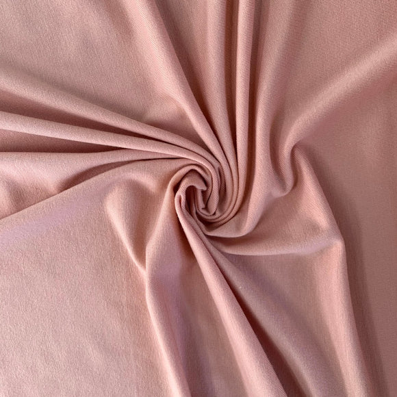Bamboo/Cotton Stretch Jersey - Mellow Rose - 1/2 Yard