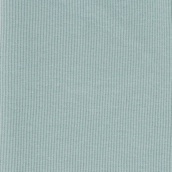 Mineral Organic Cotton Ribbed Knit Fabric by Birch Organics - Green / Turquoise- 1/2 yard