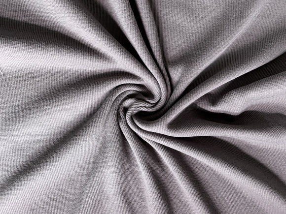 Bamboo Cotton Rib 2x2 Mink Grey - 1/2 Yard