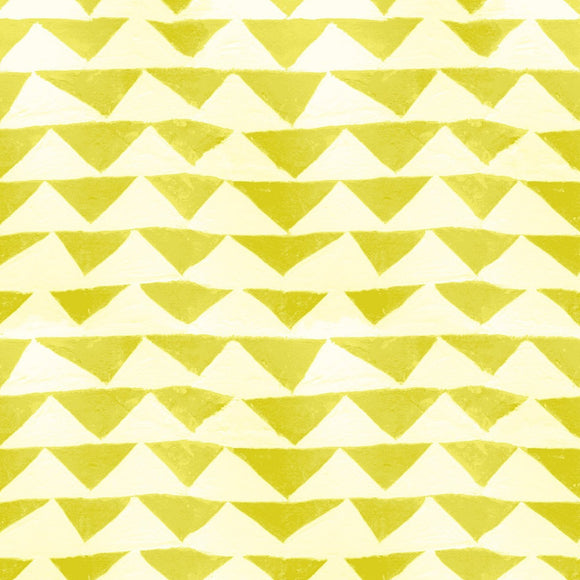 Cotton & Steel - Once Upon a Time by Oka Emi - Little Mountain - Citron - Jersey Knit Fabric - 1/2 Yard
