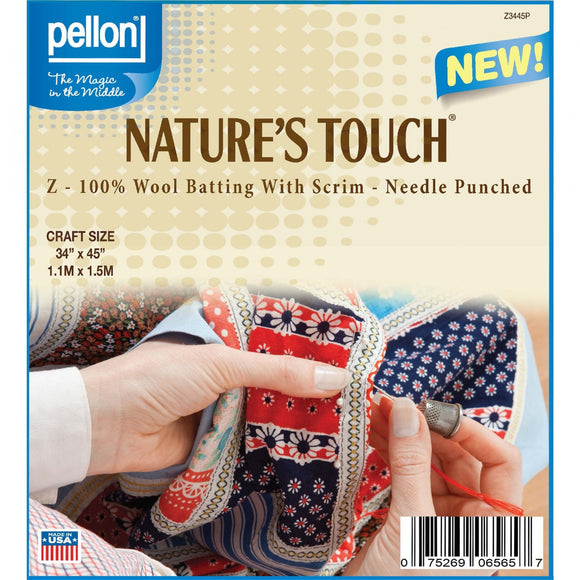 Nature's Touch 100% Wool Batting with Scrim 34