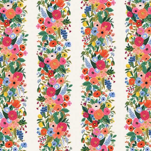 Rifle Paper Co by Cotton & Steel - Wildwood - Garden Party Vines - Pink - Rayon Lawn - 1/2 Yard
