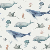 Deep Sea Life Jersey Knit by Family Fabrics Netherlands - 1/2 Yard