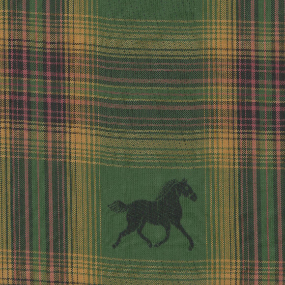Textile Creations - Mustang Cotton  Plaid Fabric - 1/2 Yard