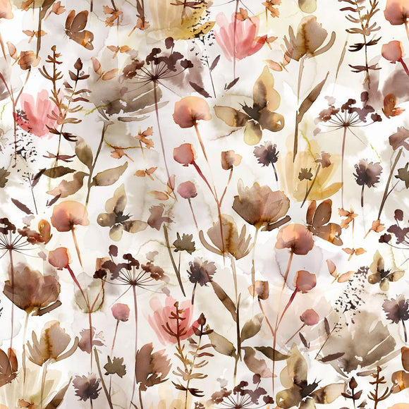 Wild Flowers Jersey Knit by Family Fabrics Netherlands - 1/2 Yard
