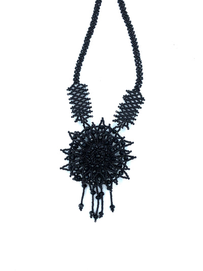 Black Flower Necklace
