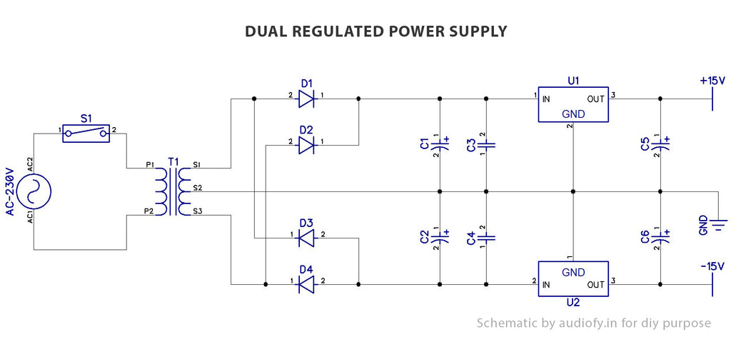 dual power supply diagram