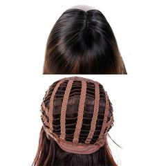 Gres Natural Wave Wigs Men Short High Temperature Fiber Black Male Synthetic Hairpieces for Middle Aged Man Puffy Headgear