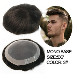 Ultra Thin Skin Hair Toupee Men Natural Looking 100% European Human Hair Lace&PU Replacement System Male Wig For Man Hombre Remy