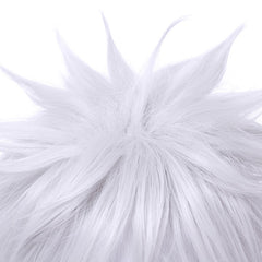 L-email wig New Gintama Gintoki Sakata Cosplay Wigs 35cm/13.8inches Short White Men Synthetic Hair Perucas Cosplay Wig