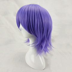 HAIRJOY Man Women Purple Cosplay Wig Short Curly Layered Synthetic Hair Party Wigs with Bangs 10 Colors Available Free Shipping