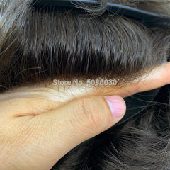 thin skin base human hair mens wigs skins hair replacement mens toupee