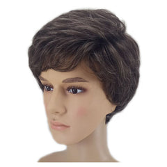 HAIRJOY Women Men Synthetic Wig Short Curly Layered Haircut Brown Costume Wig Free Shipping 4 Colors Available