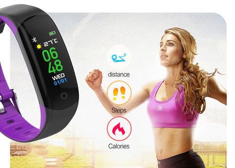 steps, calories, distance tracking