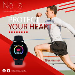 man running Vibe smart watch
