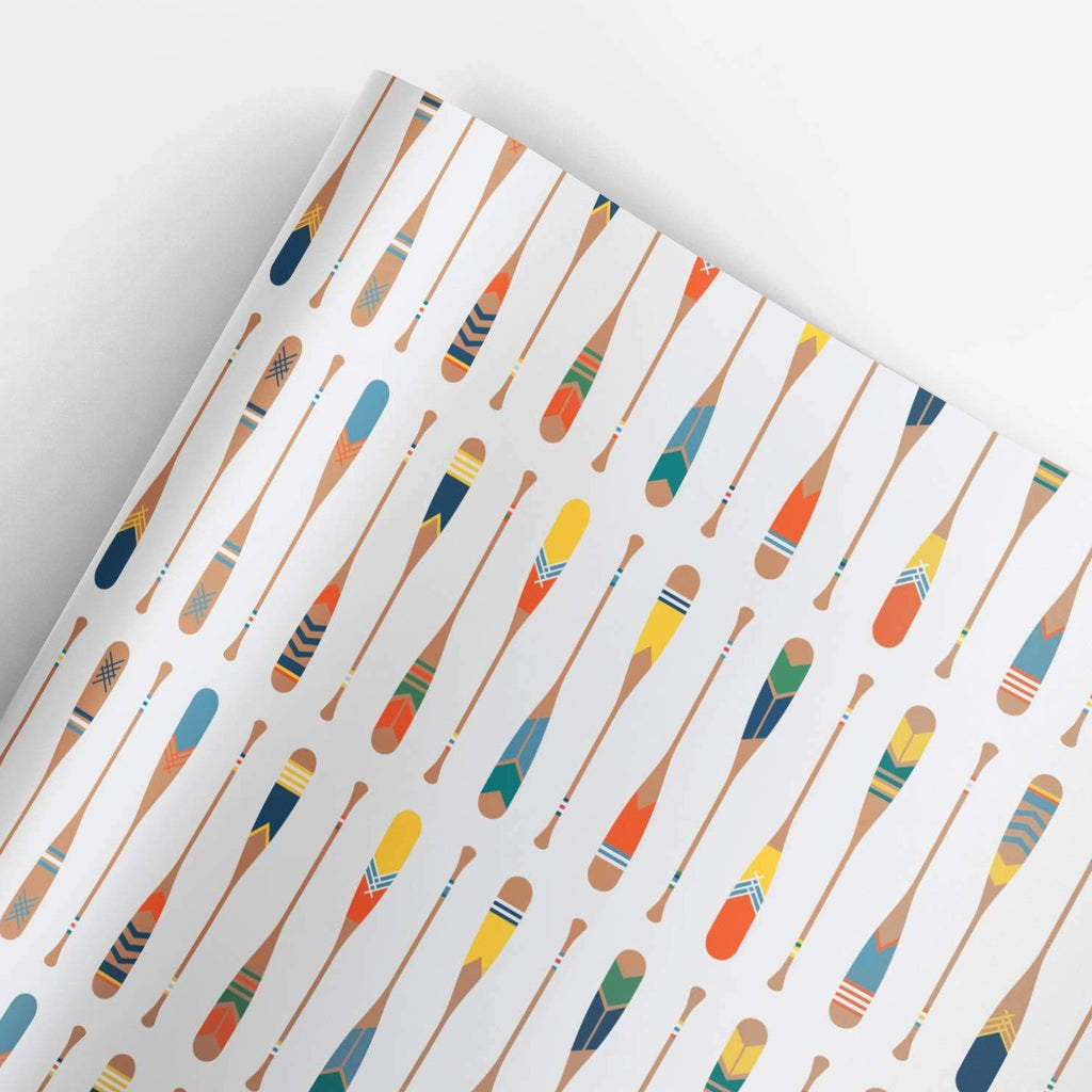 REVEL & Co. - Paddles Gift Wrap Roll (3 sheets/roll)