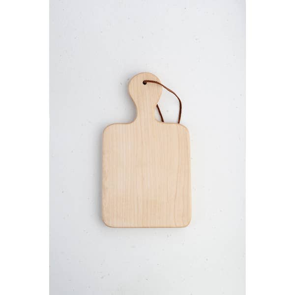 The King Market - Maple With Leather Cheese Board