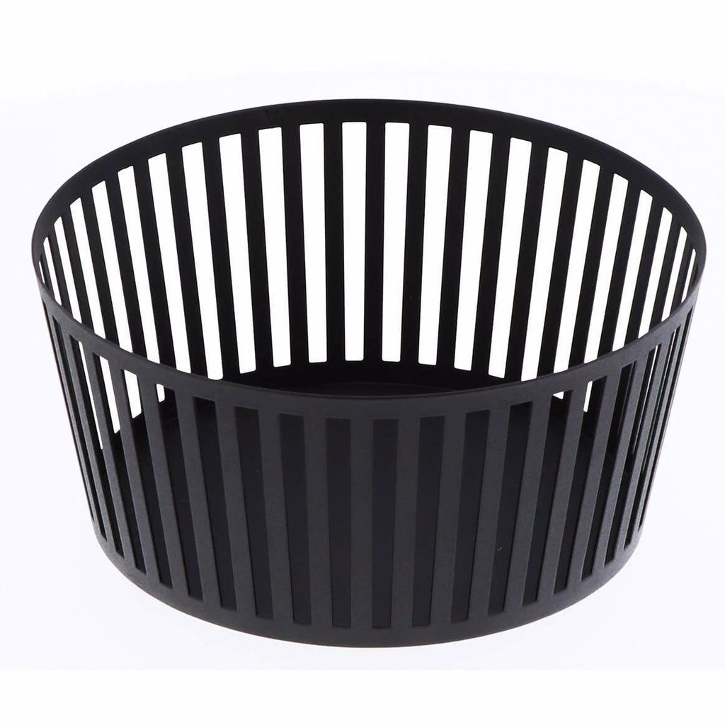 Yamazaki Home - Black Tower Striped Steel Fruit Basket