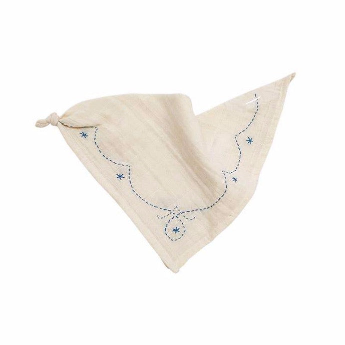 Ellie Fun Day - Shale Blue Bandana Bib