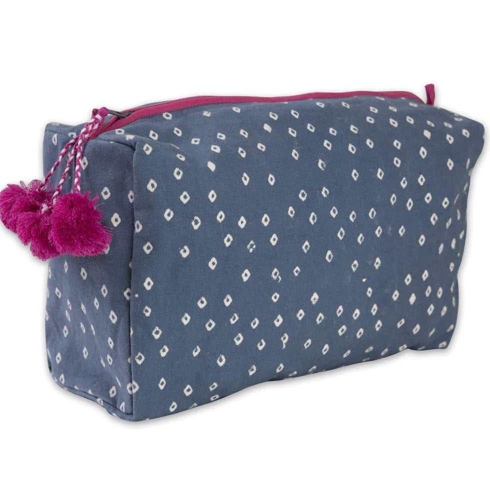 Graymarket - Troye Ocean Block Printed Toiletry Bag