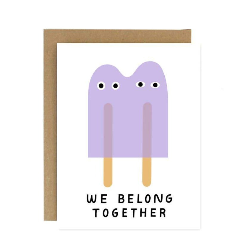 Worthwhile Paper - We Belong Together Popsicles Card