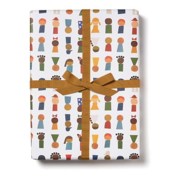Red Cap Cards - Little People Wrapping Paper