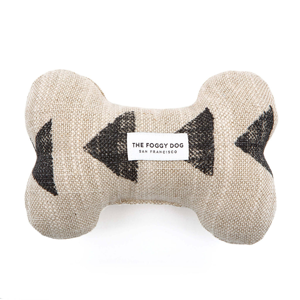 The Foggy Dog - Amani Sand Dog Bone Squeaky Toy