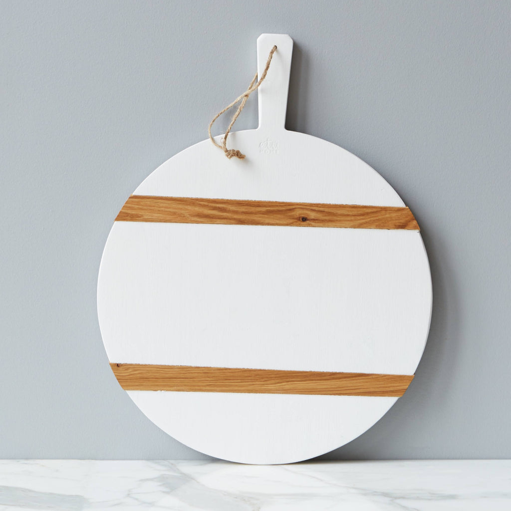 Etu Home || Home Goods -Kitchen - White Round Mod Charcuterie Board