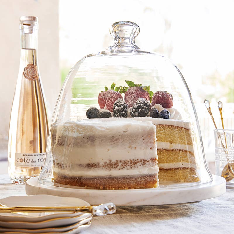 Glass Dome Cake Plate