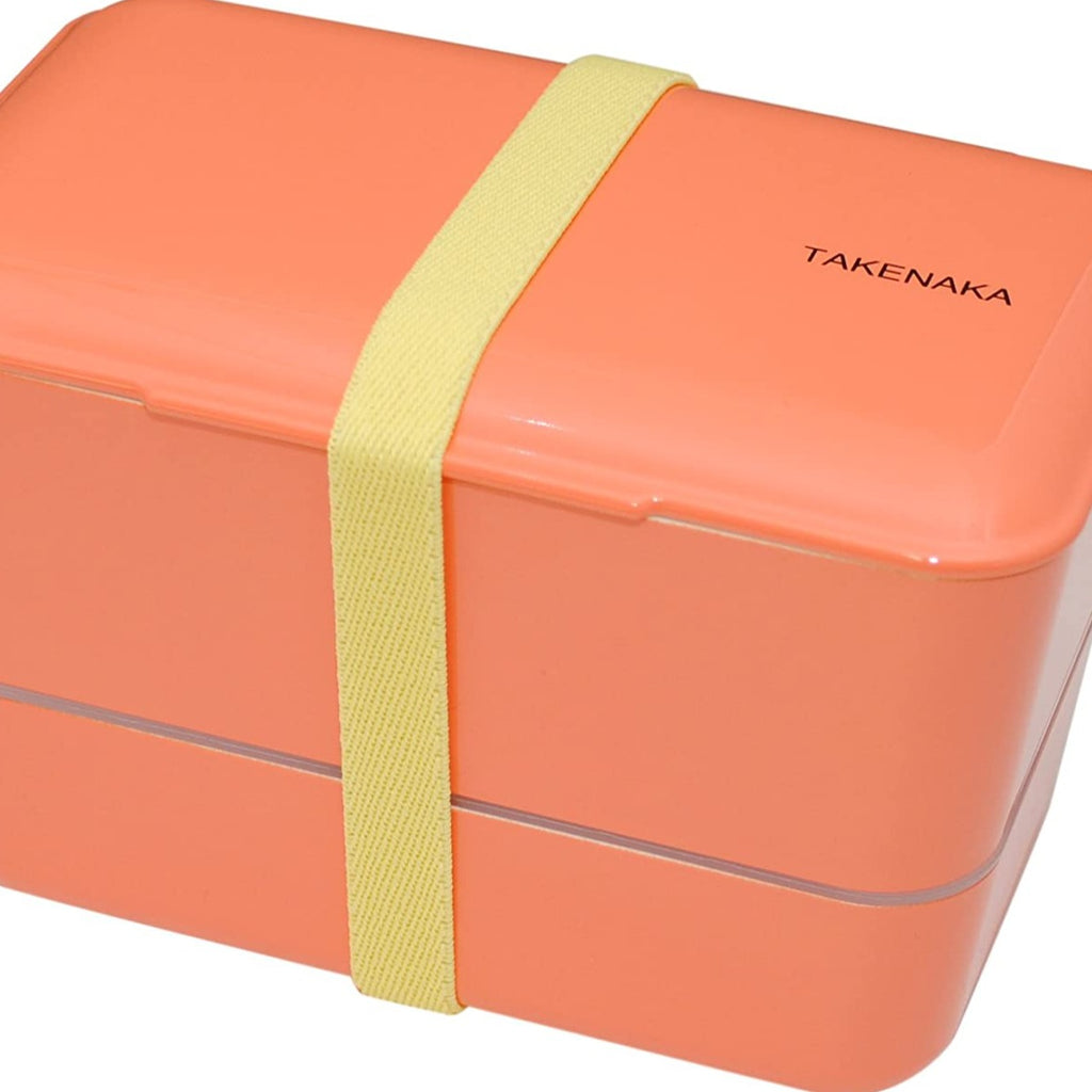 TAKENAKA Bento Box - Expanded Double - Coral