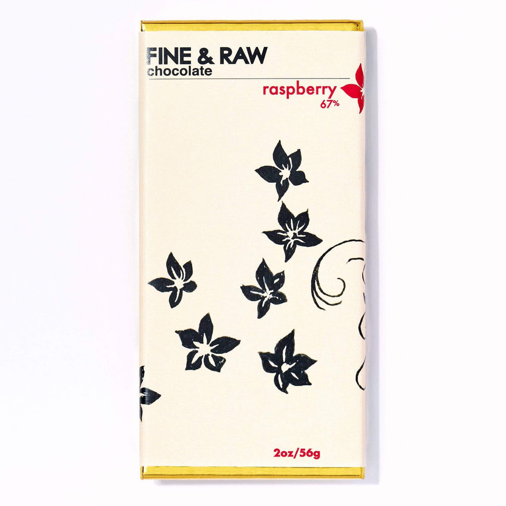 FINE & RAW - 2oz Raspberry Chocolate Bar (67% cacao)