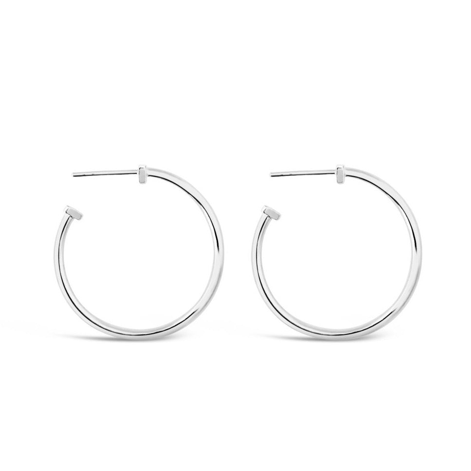 Sierra Winter - 9AM Hoop Earrings Silver