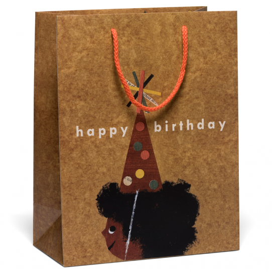 Red Cap Cards - Afro Birthday Gift Bag