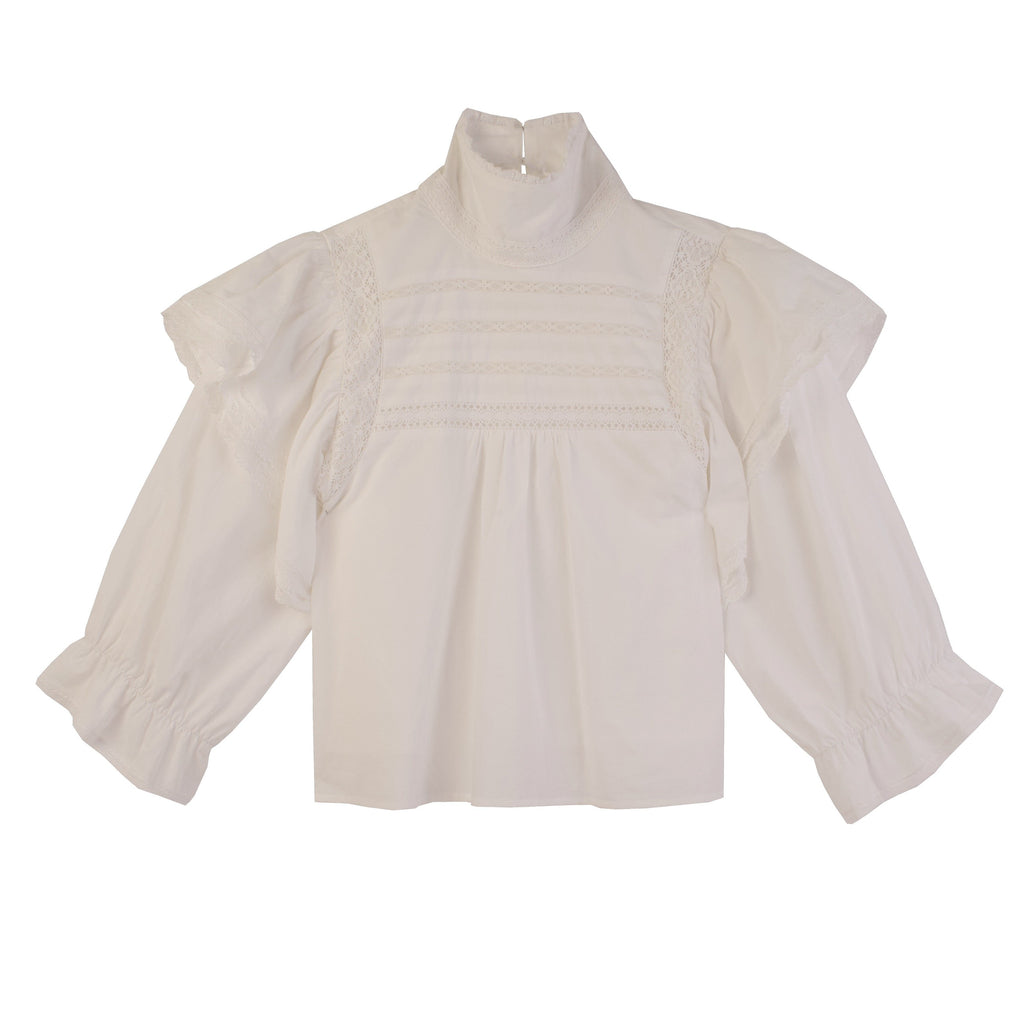 L.F. Markey - Bellflower Top - White