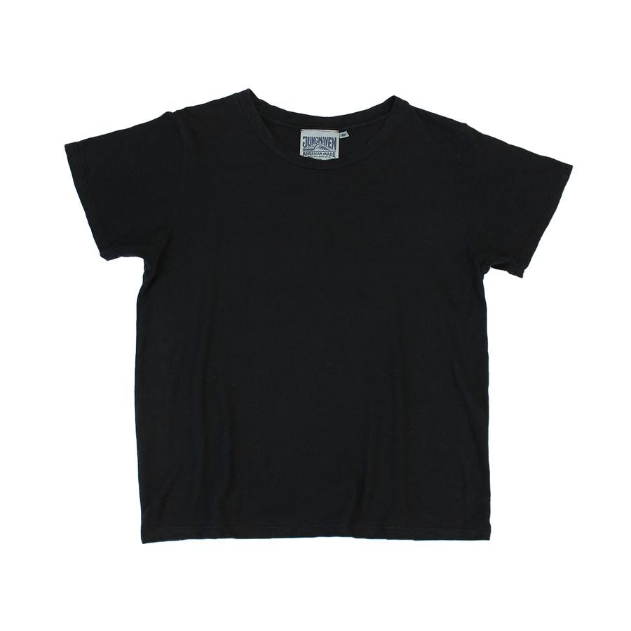 Jungmaven Ojai Cropped Tee in Black