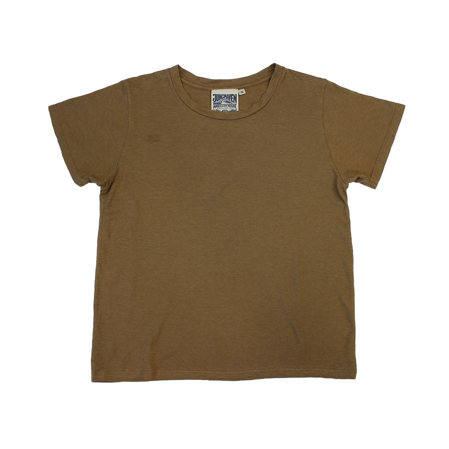 Jungmaven Ojai Cropped Tee in Coyote