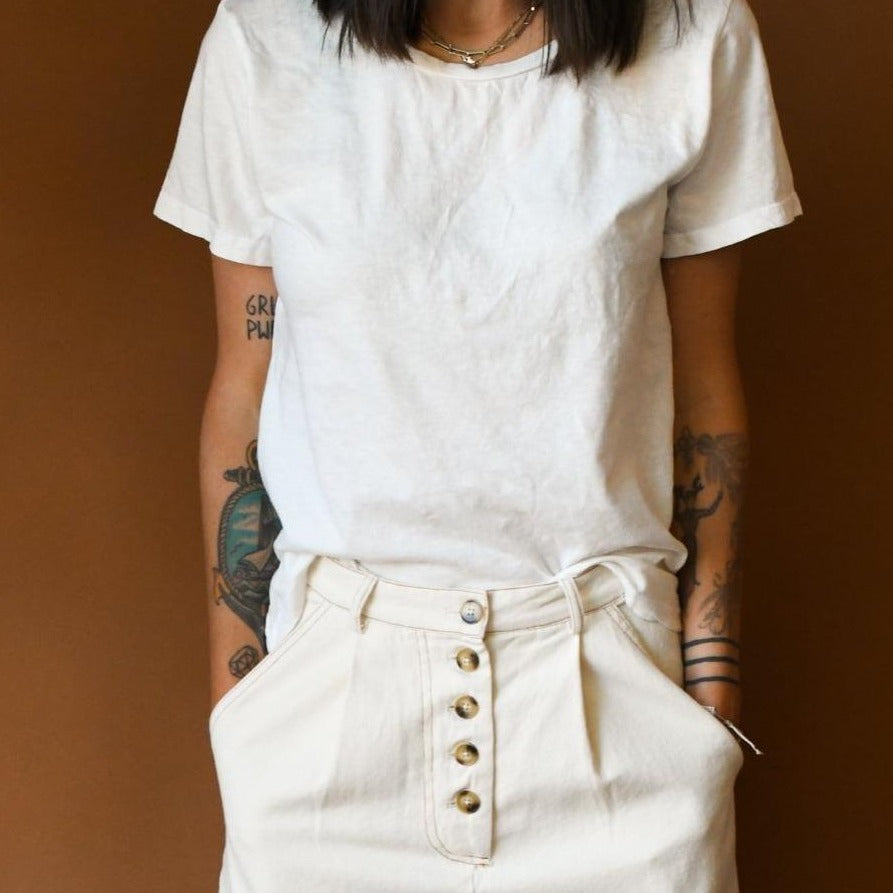 Jungmaven Ojai Tee in Washed White