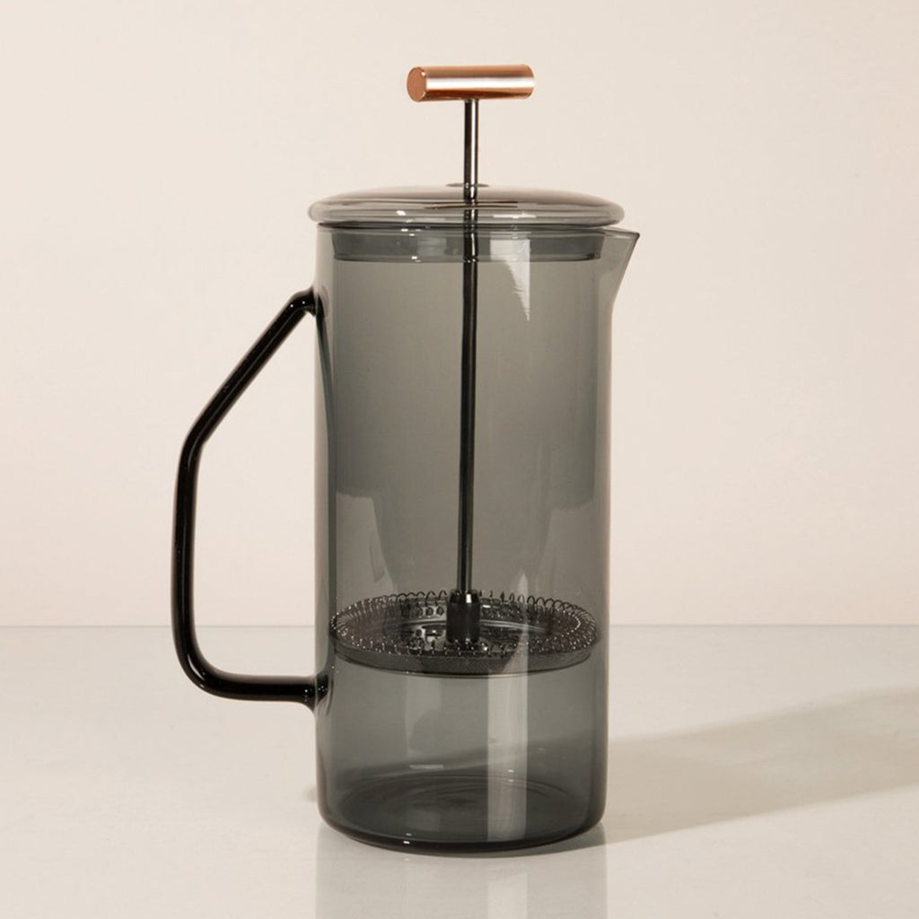 Glass French Press- Gray