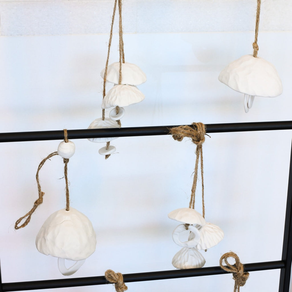 Handmade Ceramic Chimes with 3 Chimes