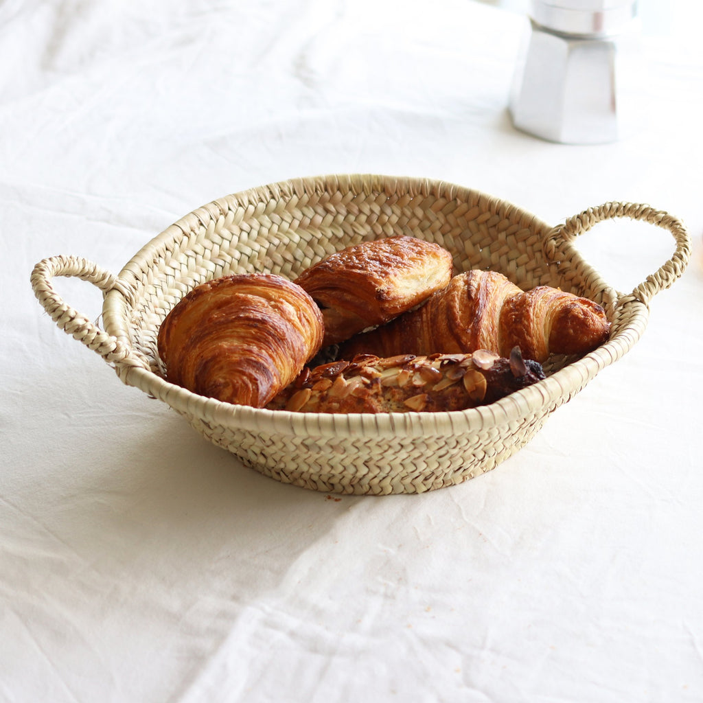Woven Plate with Handles