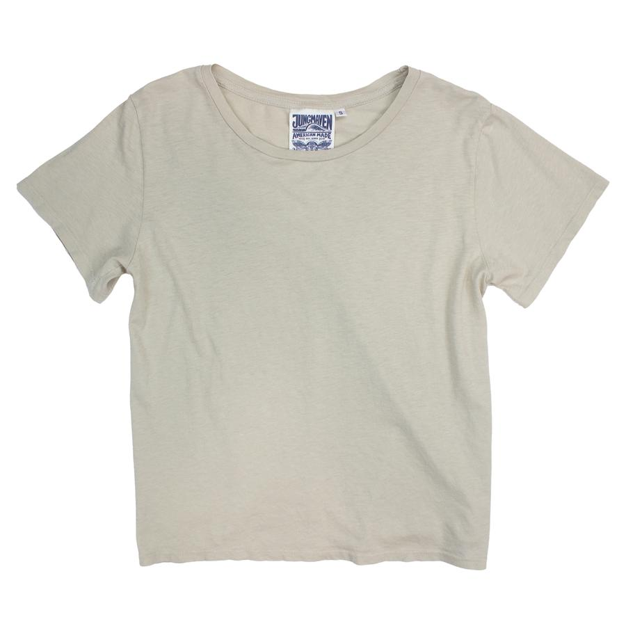 Jungmaven Ojai Cropped Tee in Canvas