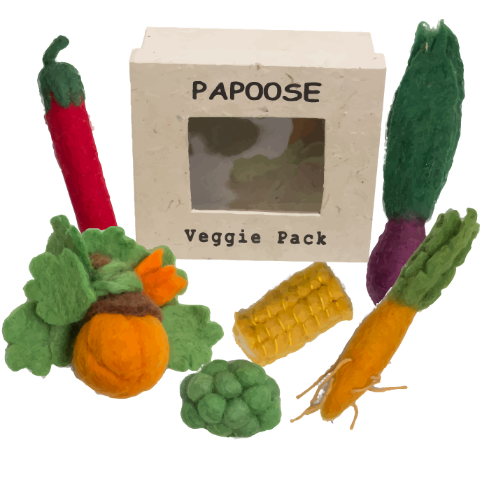 Moulin Roty - Mini Felt Vegetable Set (6 pieces)