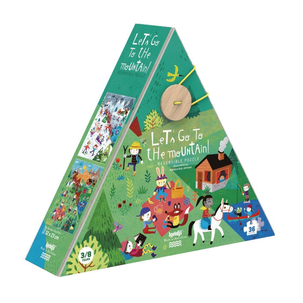 Moulin Roty - Reversible Puzzle Let's Go To The Mountains (36pcs)