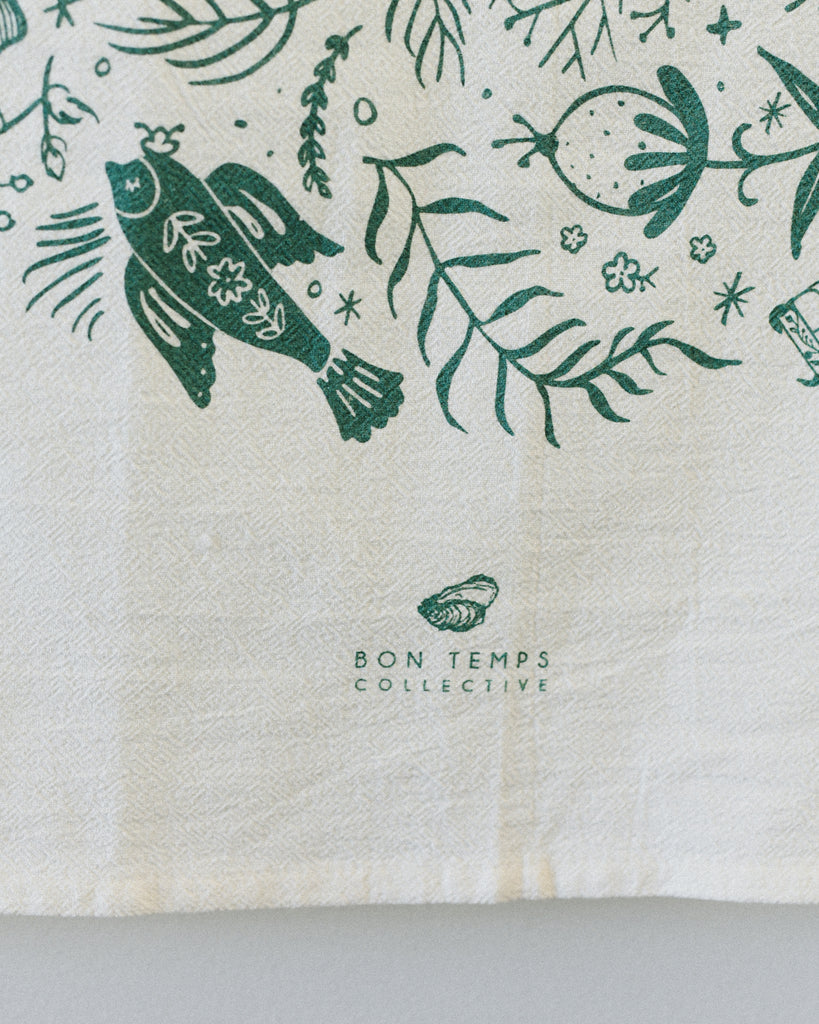 Bon Temps Collective - Norwegian Folk Art Tea Towel