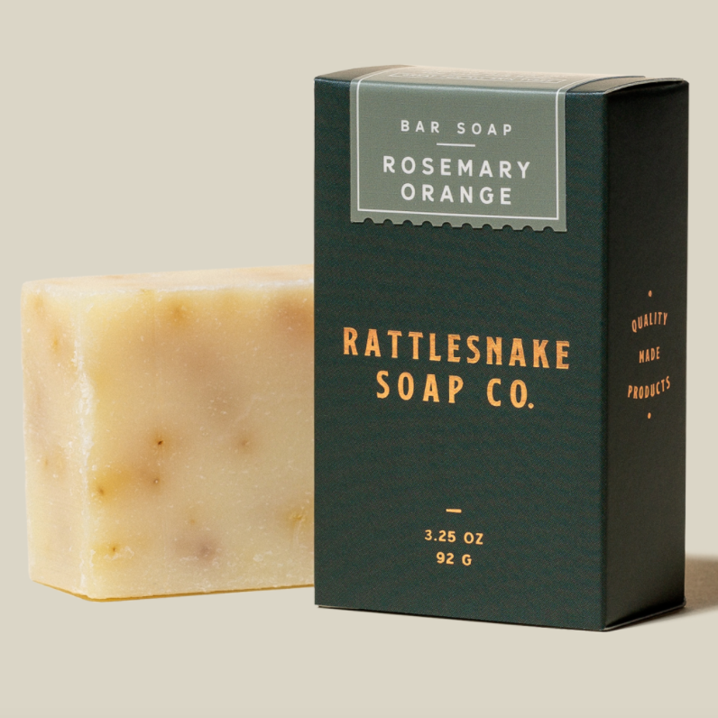 Rattlesnake - Orange and Rosemary Aloe Bar Soap