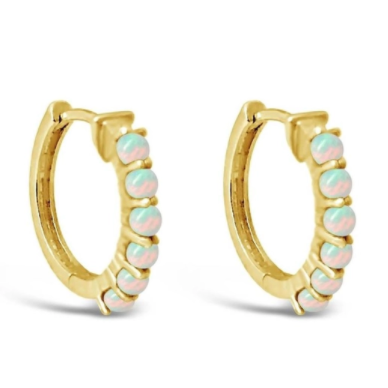 Sierra Winter - Karma Hoop Earrings Opal
