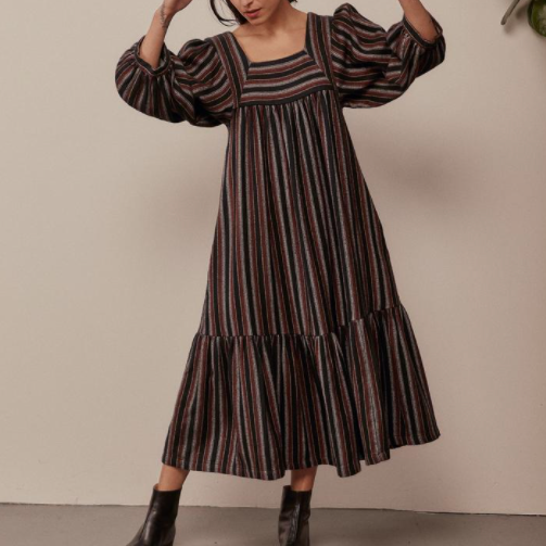 Sugar Candy Mountain - The Big Sur Dress in Roma Stripe