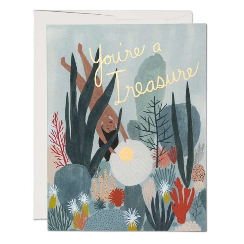 Red Cap Cards - You're a Treasure Card