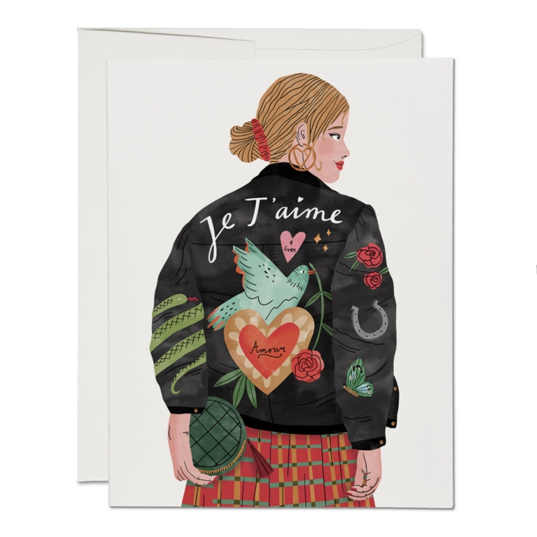 Red Cap Cards - Je T'aime Jacket Card