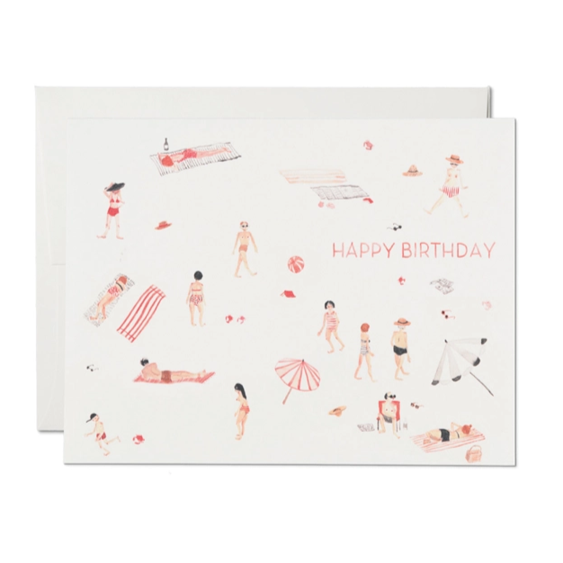 Red Cap Cards - Beach Bums Birthday Card